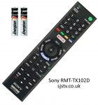 Genuine Sony Remote Control 149296511 (RMT-TX102D)